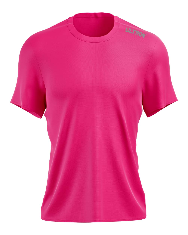 Ultron Pinhole Running Top - Neon Pink